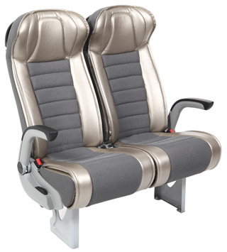 silver and grey brusa 2 seats