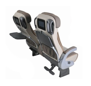 2 beige reclining brusa seats rear shot