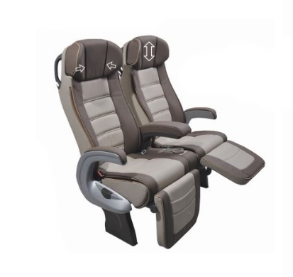 2 beige reclining brusa seats