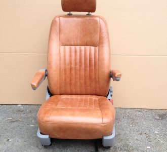 brown leather vehicle seat