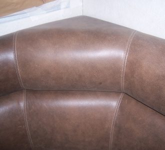 brown leather seating closeup