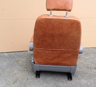 brown leather seat rear magazine holder