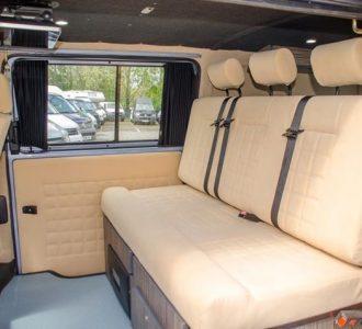 van conversion cream interior seating