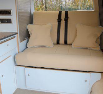 vw volkswagen t5 conversion white and cream interior