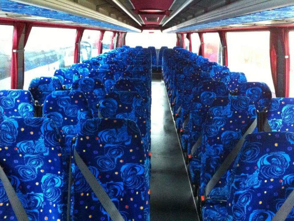 Blue rose coach seats